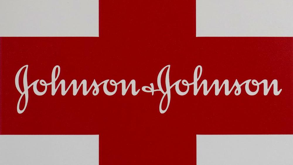 This Feb. 24, 2021 photo shows a Johnson and Johnson logo on the exterior of a first aid kit in Walpole, Mass.(AP Photo/Steven Senne, file)